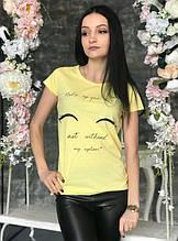 Футболка женская Make up yellow размер S