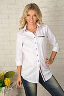 Стильная женская рубашка длинная 929