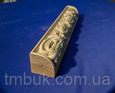 Прямая ножка для дивана, комода, стола, тумбы деревянная с резной композицией. 450 мм, фото 2