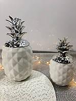 Фарфоровый ананас с серебряной крышкой 27 см Великобритания
