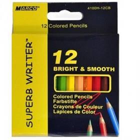 Карандаши Цветные 12 цв. короткие 4100/H Marco