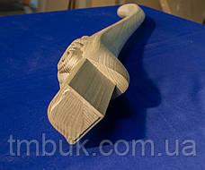 Ножка для стола деревянная резная. Кабриоль со скругленным основанием и углом 90 градусов. 730 мм., фото 2