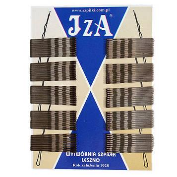 Невидимки для волосся хвилясте з двома кульками коричневі 5 см (100 шт/уп)