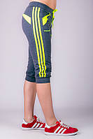 Капри спортивные женские Стрелки (темно-серые)