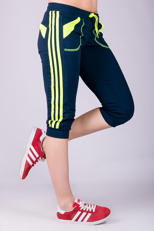 Капри спортивные женские Стрелки (темно-синие)