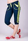 Капри спортивные женские Стрелки (темно-синие), фото 2