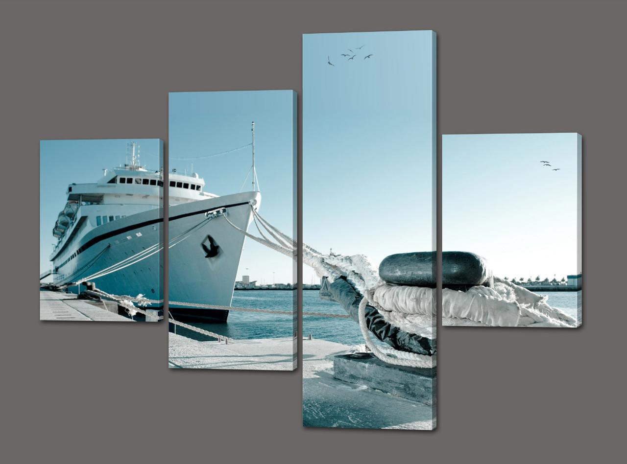 Модульная картина Корабль 120*96,5 см Код: 439.4к.120