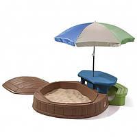 Песочница со столиком и зонтом Step2 8437