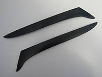 Ресницы на автомобильные фары Ниссан Альмера с 2006 Spirit. Тюнинговые накладки на фары Nissan Almera Classic
