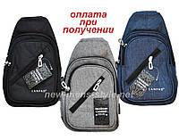 Чоловіча чоловіча спортивна тканинна сумка слінг рюкзак бананка NEW, фото 1