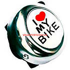 Велосипедный звоночек I LOVE MY BIKE хром, фото 3