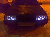 Передние фары на ВАЗ 2109 Ангельские глазки