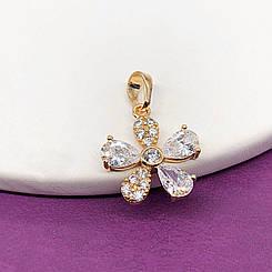 """Кулон Xuping Jewelry """"Цветочек"""" медицинское золото, позолота 18К. А/В 2784"""