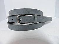 Женский   узкий ремень 1.5 см Замш