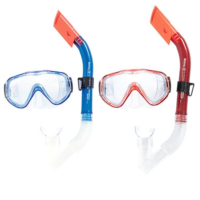 Яркий набор для плавания и ныряния - маска и трубка, Best Way,24028