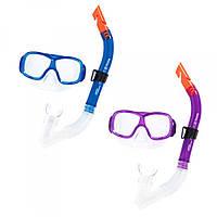 Яркий набор для плавания и ныряния - маска и трубка, возраст 7+  Best Way,BW 24032