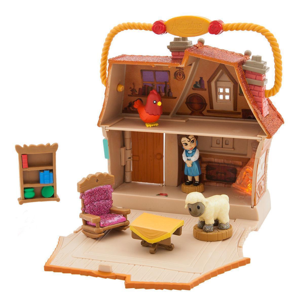 Набор Красавица и Чудовище Дисней домик и кукла принцесса Белль в детстве