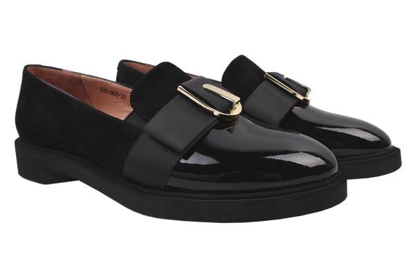 Туфли женские на низком ходу Maria Moro натуральная замша, цвет черный