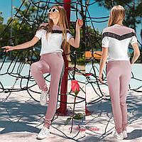 Спортивный женский костюм из стрейчевого велюра   GR  26803   в расцветках, фото 1