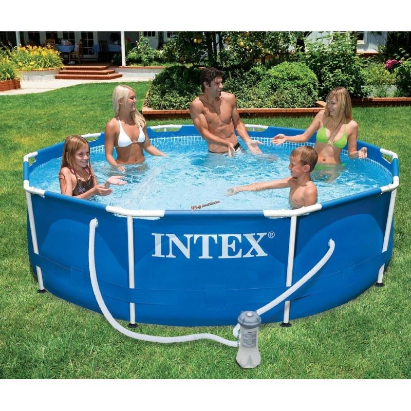 Каркасный бассейн Intex 28212 (56996) размер 366x76 cм с фильтром-насосом