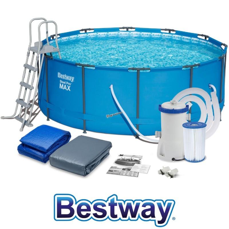 Каркасный бассейн BestWay 56420 (56088) 366х122 см с картриджным фильтром