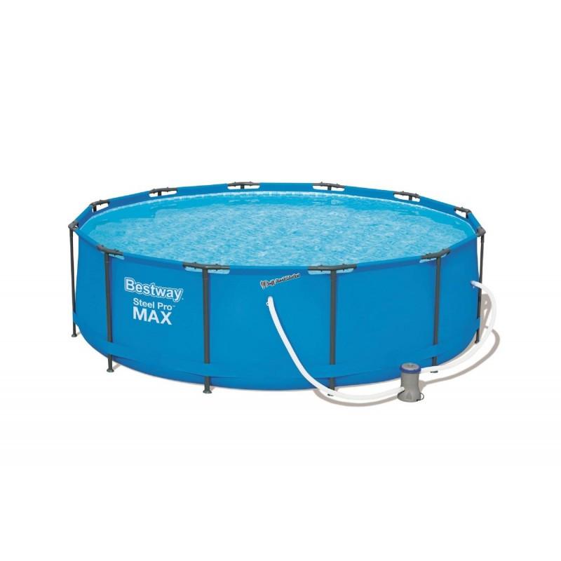 Круглый каркасный бассейн Intex 56260 366х100см + насос