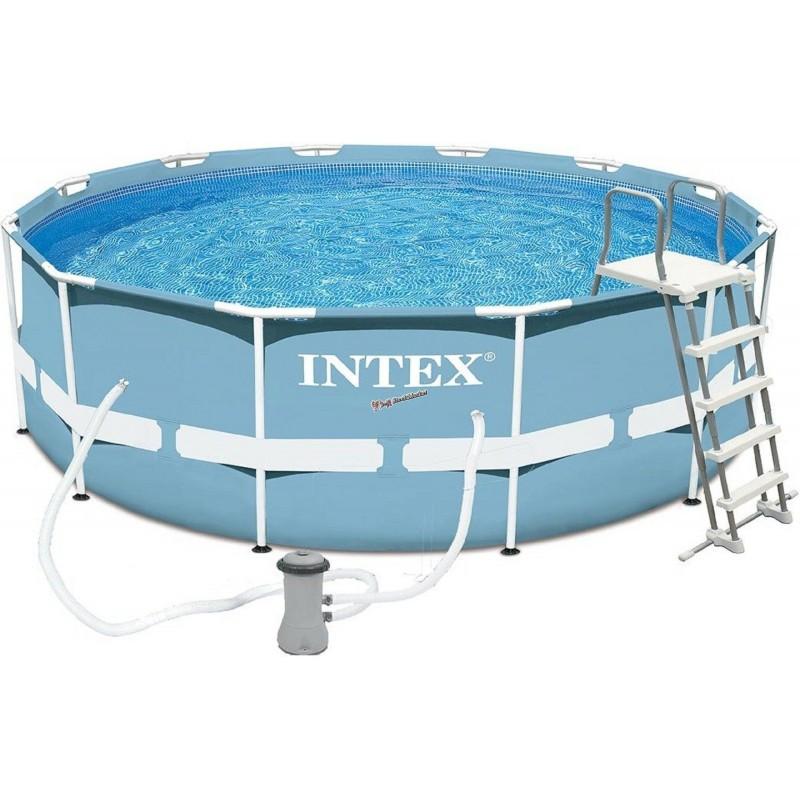 Каркасный бассейн Intex 26718 366х122 см + насос + лестница новинка 2019