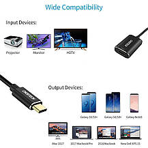 Адаптер переходник  CHOETECH USB Type  C to HDMI 4K UHD алюминиевый, фото 3