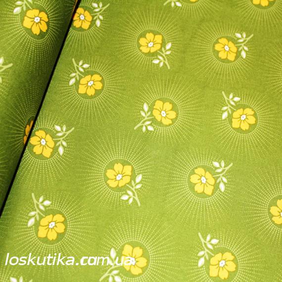 18025 Сочный луг. Ткани для шитья и рукоделия. Подойдет для изделий ручной работы и пэчворка.