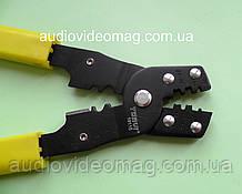 Инструмент обжимной для ножевых (плоских) клемм без изоляции