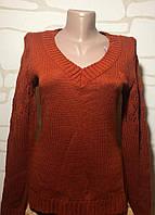 Джемпер, пуловер женский размер 48 кирпичный