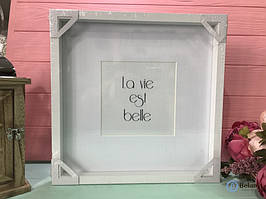 Классическая фоторамка для декора подарочная рамка размер 30/30/3см для фотографий портрета