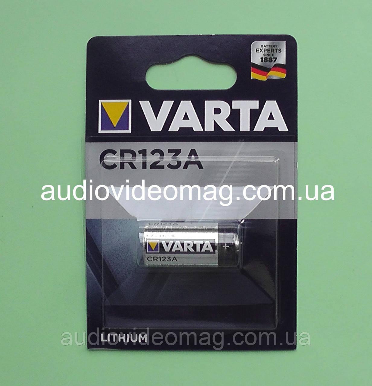 Батарейка литиевая Varta CR123A 3V Lihtium
