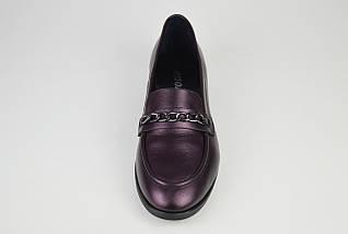 Туфли кожаные бургунд Estamod 1873, фото 3