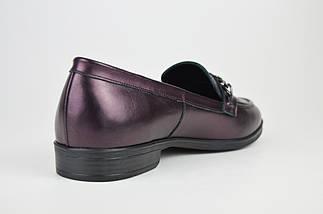 Туфли кожаные бургунд Estamod 1873, фото 2