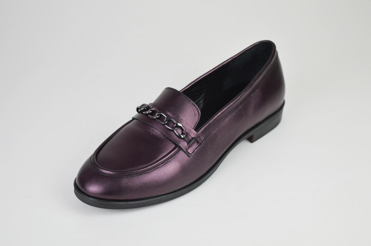 Туфли кожаные бургунд Estamod 1873