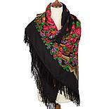 Русская красавица 325-18, павлопосадский платок шерстяной  с шерстяной бахромой, фото 6