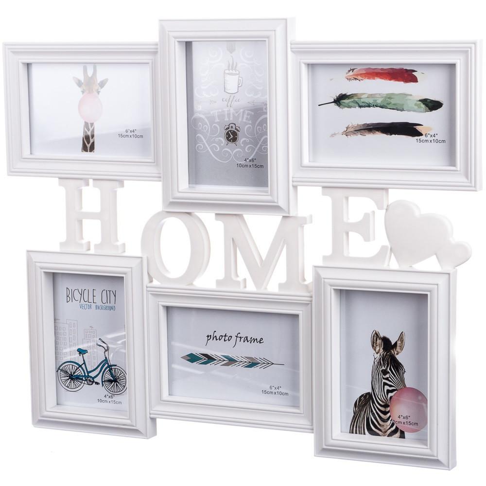 Фотоколлаж Joys home Home на 6 фото 48*41 см (195I/white)