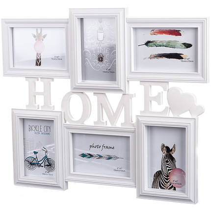 Фотоколлаж Joys home Home на 6 фото 48*41 см (195I/white) , фото 2