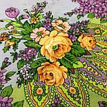 Цветет сирень 1360-10, павлопосадский платок шерстяной  с шелковой бахромой, фото 6