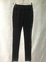 Джеггинсы женские норма, размеры 25-30, чёрные блестящим лампасом