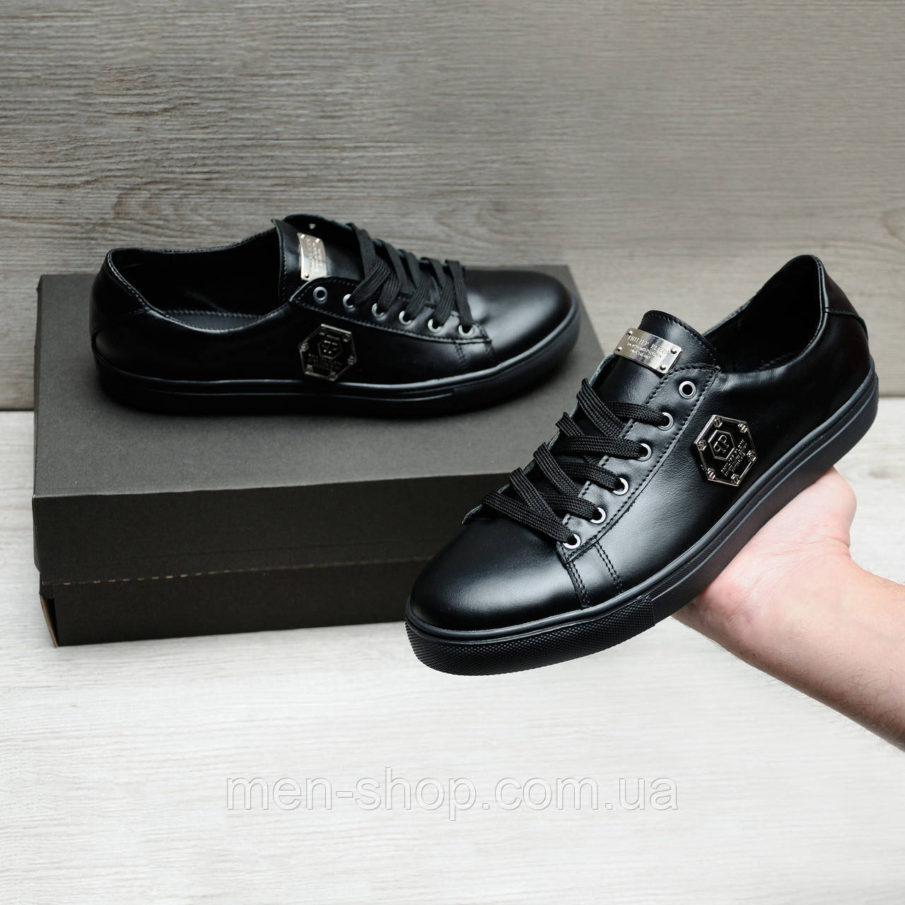 Качественная обувь в стиле Philipp Plein натуральная кожа