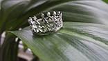 Кольцо  женское серебряное  Корона, фото 2