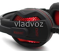 Игровые наушники с микрофоном USB 3,5 мм. геймерские для компьютера с подсветкой ПК игр KOMC G20, фото 3