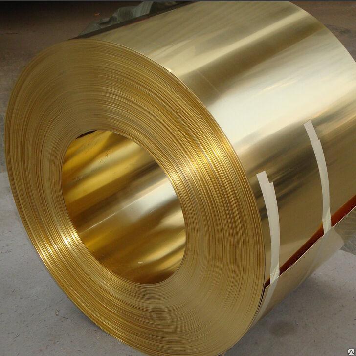 Лента латунная 0,08х52 мм Л63 твёрдая, мягкая