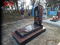 Памятник из гранита, лабрадорита и базальта