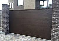 Ворота сдвижные автоматические из профнастила, размер 3500х2300 мм