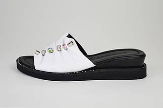 Шлепанцы белые женские Evromoda 10430, фото 2