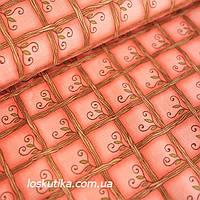 26004 Плетень (розовый). Ткани для кукол, пэчворка, трапунто, для художественной стежки.