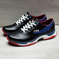 Мужские кожаные  кроссовки в стиле Fila, фото 1